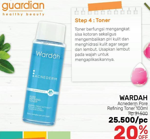 Discount 20 On Wardah Acnederm Por Refning Toner At Guardian March 2020 Beachwalk Bali