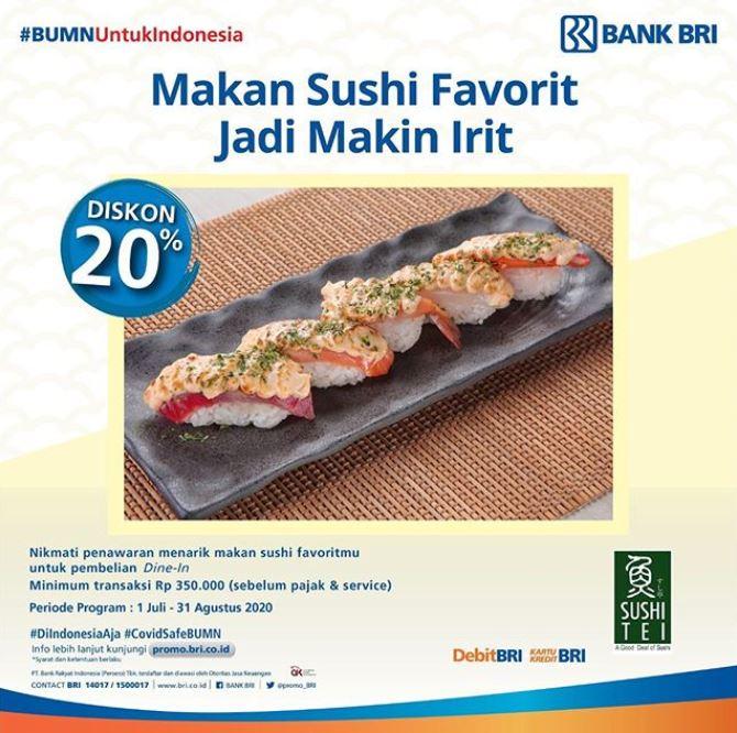 Sushi Tei Promo Diskon 20 Bank Bri Juli 2020 Gotomalls