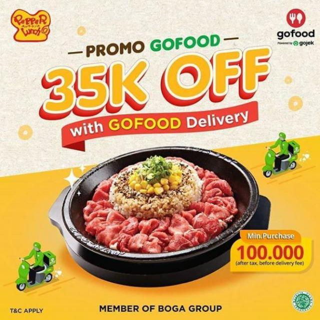 Promo Gofood 35k Off Pepper Lunch September 2020 23 Paskal Shopping Center